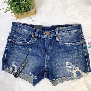 NWT Blank NYC the Astor jean cut offs size 25